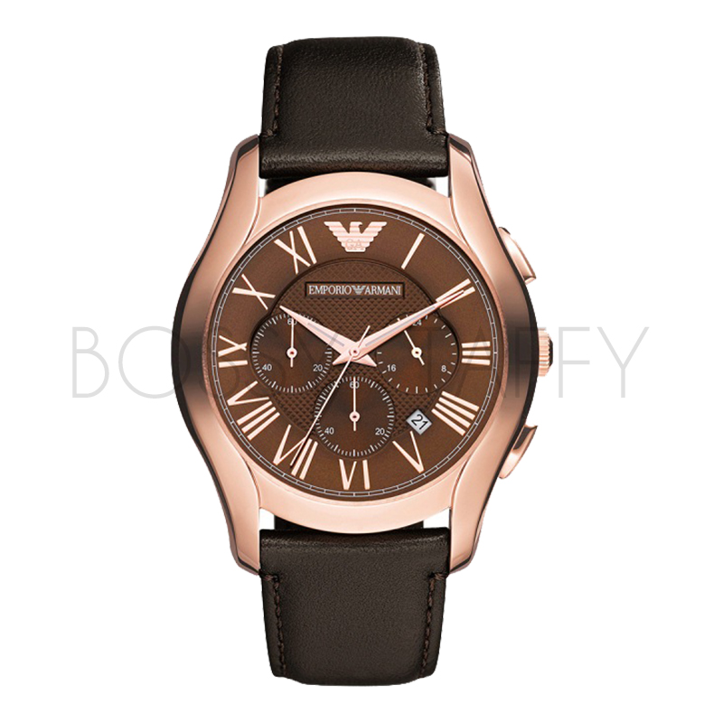 AR1701 ARMANI 亞曼尼 時尚真皮石英錶 男錶