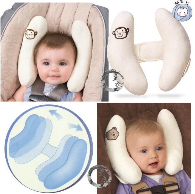 童衣圓 【K048】K48防護枕 新生兒 嬰兒枕 定型枕 固定枕 安睡靠枕 防側翻枕 安全座椅枕 推車枕 可調整