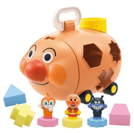 日貨 正版麵包超人顏色形狀認知玩具 安全玩具 拼圖積木 教育 益智 兒童用 兒童玩具【N201085】