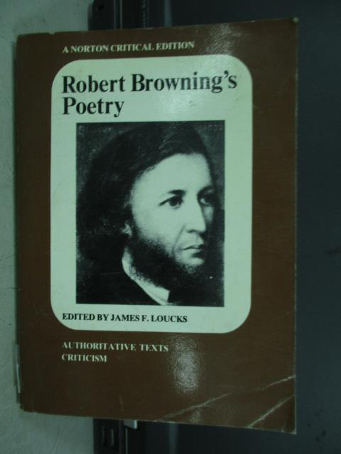 【書寶二手書T2/原文書_JAZ】Robert browning's poetry_1979