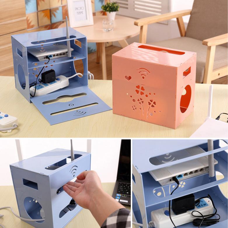摺疊多孔透氣電線收納整理架 電線收納盒《隨機出貨不挑色》