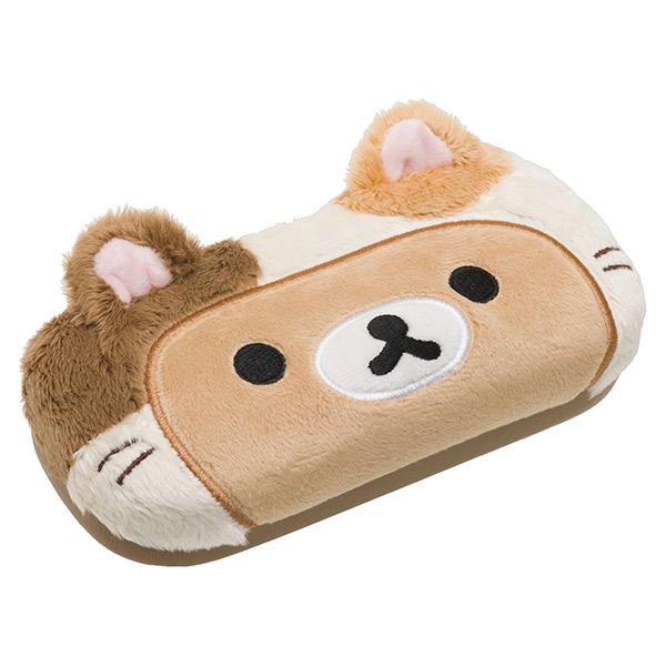 【蜜多麗夢想本舖】日本 San-X 拉拉熊 變裝貓 眼鏡盒(拉拉熊款) 約7×16×4.5cm