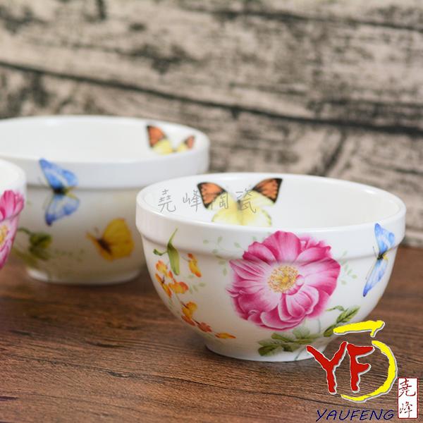 ★堯峰陶瓷★韓國 韓式飯碗 4吋骨瓷碗 煙花 單入