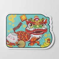 【〒台灣神】台灣旅行明信片。台灣舞獅★GRAPHIC POST CARD★
