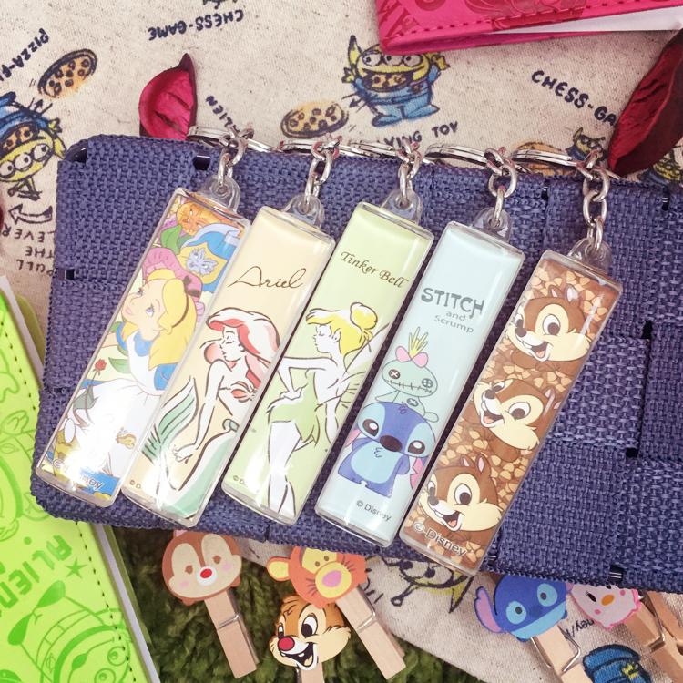 PGS7 迪士尼系列商品 - 迪士尼 壓克力 水晶 鑰匙圈 小吊飾 奇奇 史迪奇 愛麗兒 愛麗絲 小仙子