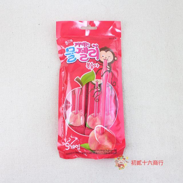 【0216零食會社】HAITAI水蜜桃果凍條20g_5入