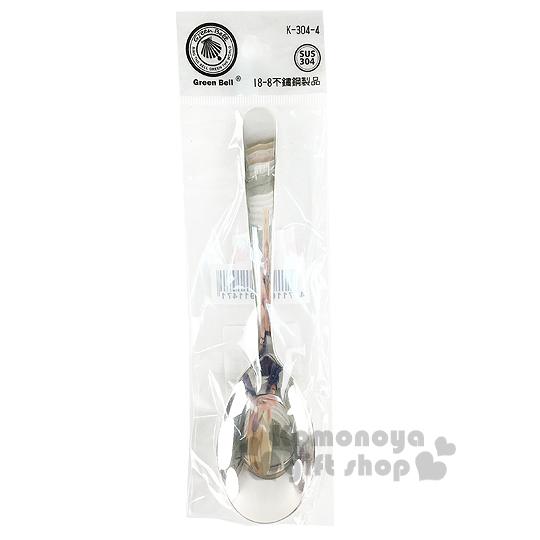 〔小禮堂〕綠貝 不鏽鋼平湯匙《大.銀.K-304-4》304不鏽鋼