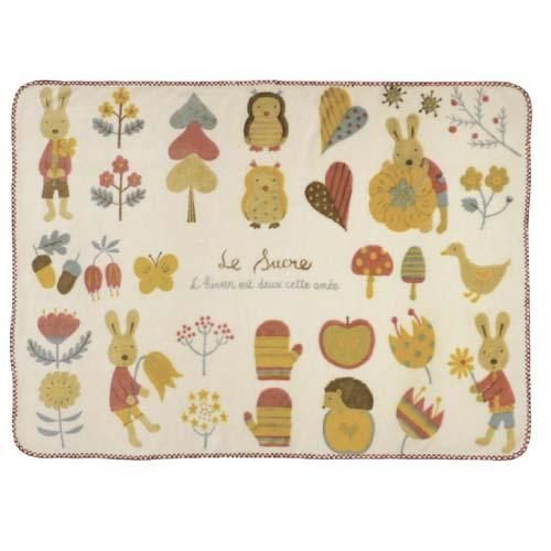 【真愛日本】 15111500032棉柔毛毯70*100-花園米     *le sucre la creme法國兔*戶崎尚美 毛毯  披毯