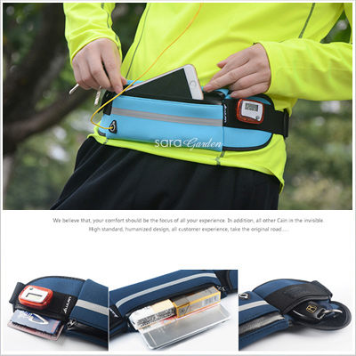 多功能 超大 容量 運動 防潑水 戶外 跑步 健身 休閒 腰包 包包 收納包 收納 耳機 孔位 反光條【D0601086】