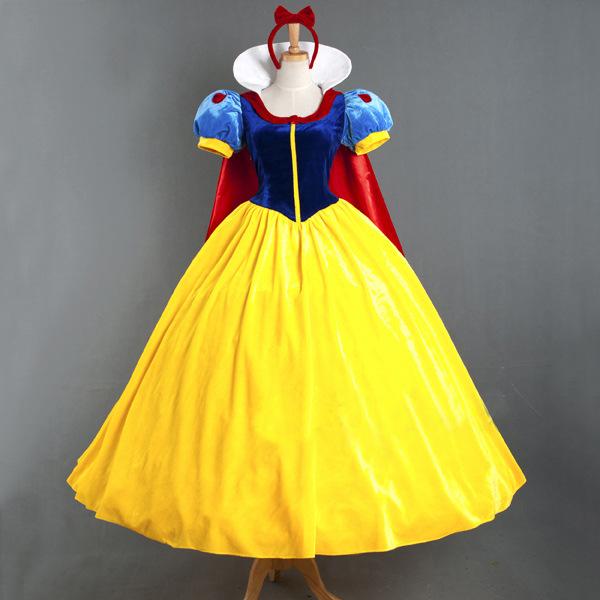 電影角色白雪公主裙動漫服裝萬聖節含披風裙撐角色扮演halloween