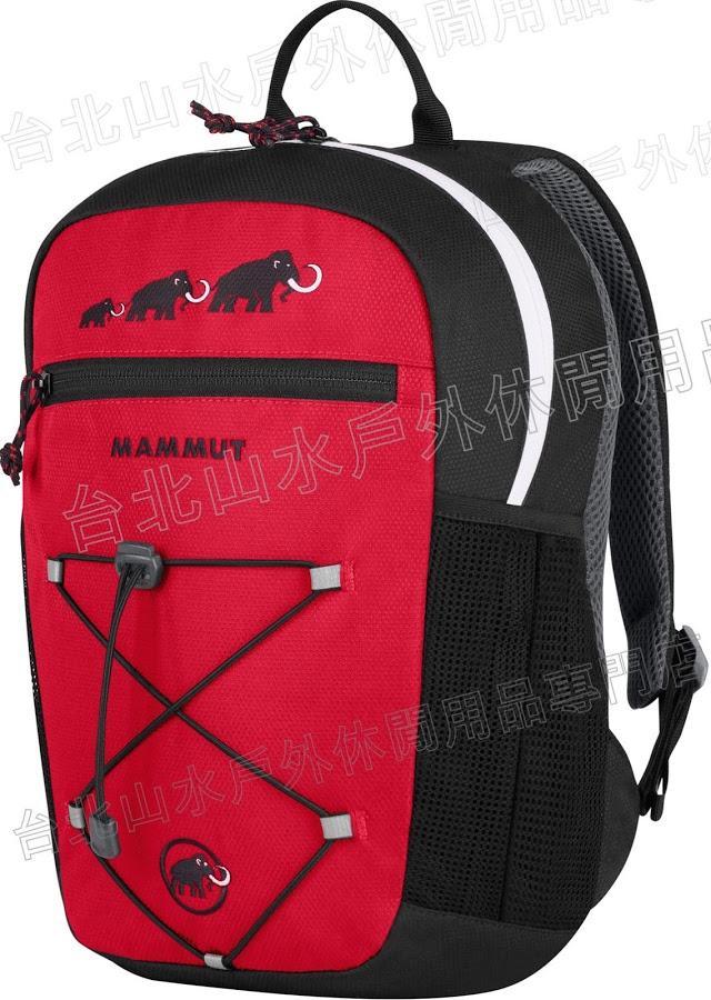 Mammut 長毛象 兒童背包/小朋友背包 附玩偶 First Zip 2510-01542-05750 黑紅8L