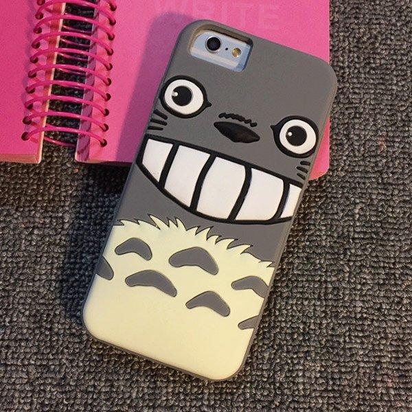 iPhone 6 I6S PLUS I5 5S 煤炭 煤球 龍貓 宮崎駿 軟殼 全包覆 矽膠套 手機殼 保護套