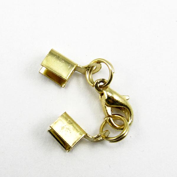 【60076】問號鉤.9mm+中山雙圈-金色 (10入)