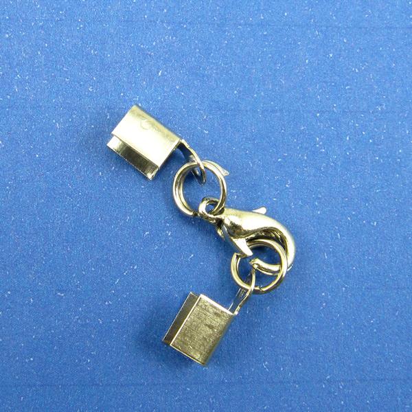 【60077】問號鉤.9mm+中山雙圈-白鎳 (10入)