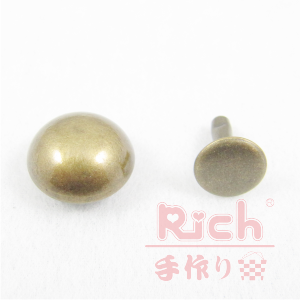 【原價6元,特價5元】裝飾扣B17-8mm磨菇撞釘古銅