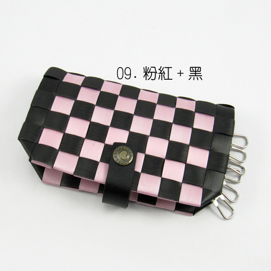New!12mm鑰匙包【材料包】09.粉紅+黑
