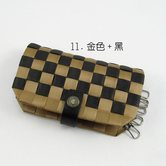 New!12mm鑰匙包【材料包】11.金色+黑