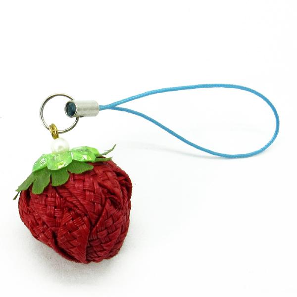 草莓吊飾-布感織帶 (B1單色/材料包)