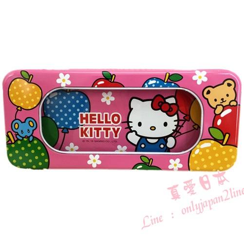 【真愛日本】16090500009大開窗鐵筆盒-KT粉   三麗鷗 Hello Kitty 凱蒂貓    收納 筆盒