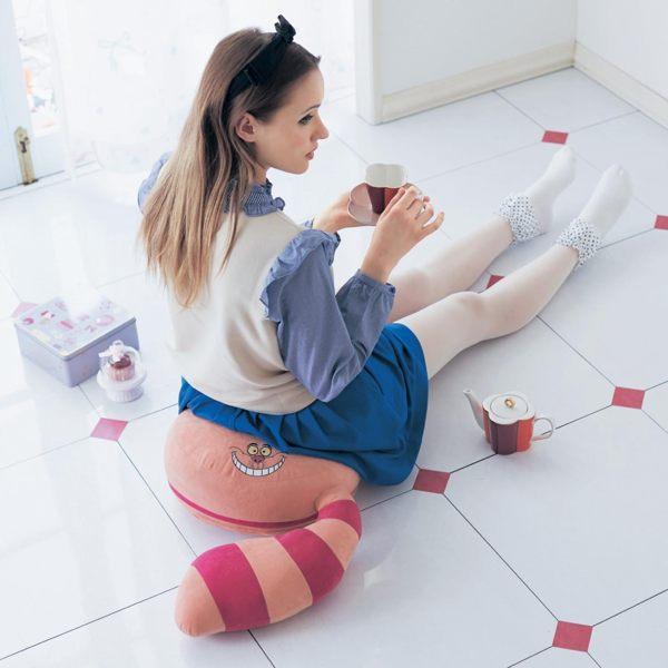 迪士尼愛麗絲貓米妮毛怪板凳和室椅沙發日本製120971海渡