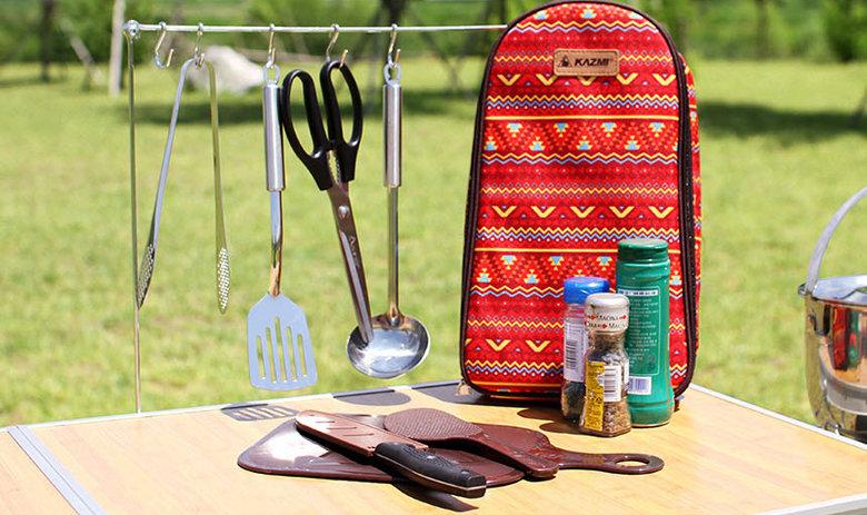 【鄉野情戶外專業】 KAZMI |韓國| 民族風廚房用具8件組/戶外廚具 露營廚具/K5T3K008