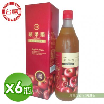 台糖 蘋果醋(600ml/瓶)x6_免運