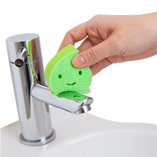 日本製造AISEN黏貼式洗臉台水滴海綿刷(1包3入)