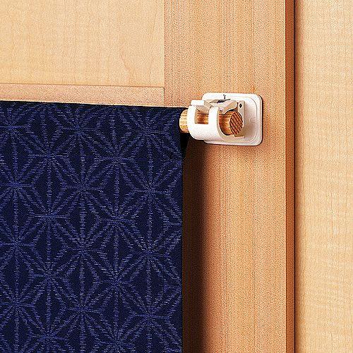 日本LEC黏貼式窗簾橫桿專用掛勾
