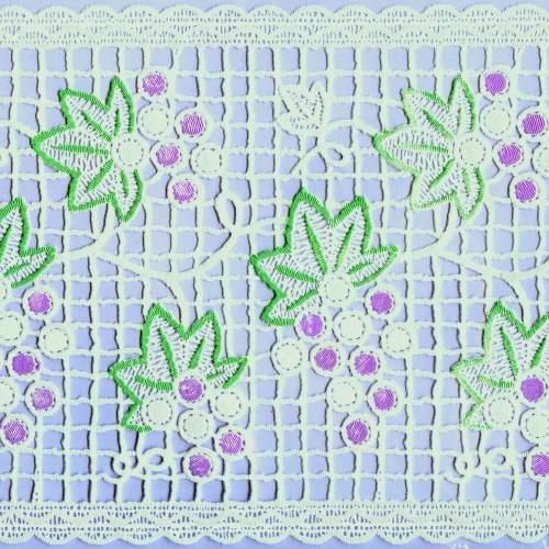 日本 MEIWA 靜電抗菌蕾絲窗貼(紫葡萄中)