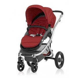 【淘氣寶寶】英國 Britax-Affinity 4輪限量版單人手推車 紅+扶手把 【保證原廠公司貨】