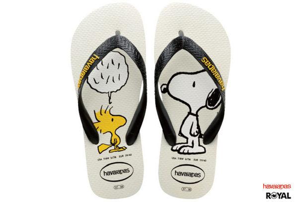 Havaianas 哈瓦士 新竹皇家 白色 Snoopy 糊塗塔克 史努比聯名款 夾腳拖鞋 男女款 NO.H1401