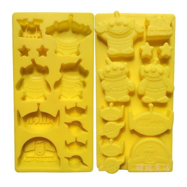 =優生活=迪士尼三眼怪 玩具總動員食品級矽膠 巧克力蛋糕模 手工皂 果凍布丁模 卡通冰格 製冰模具 DIY模具 可愛冰格 小