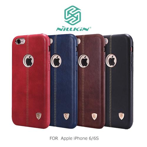 NILLKIN 5.5吋 iPhone 6/6S PLUS i6+ iP6+ 優質皮革 英士保護殼 保護套 背蓋 手機殼 手機套 隱藏式鐵片方便搭配磁吸式支架/TIS購物館