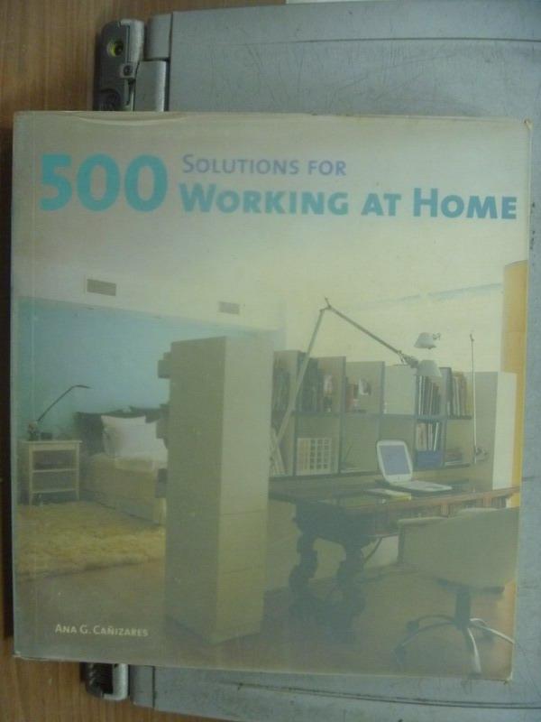 【書寶二手書T4/設計_PNO】Solutions for 500 working at home