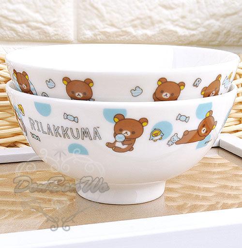 [餐具小物]台灣製懶懶熊拉拉熊陶瓷碗低價實用系列隨機202559海渡