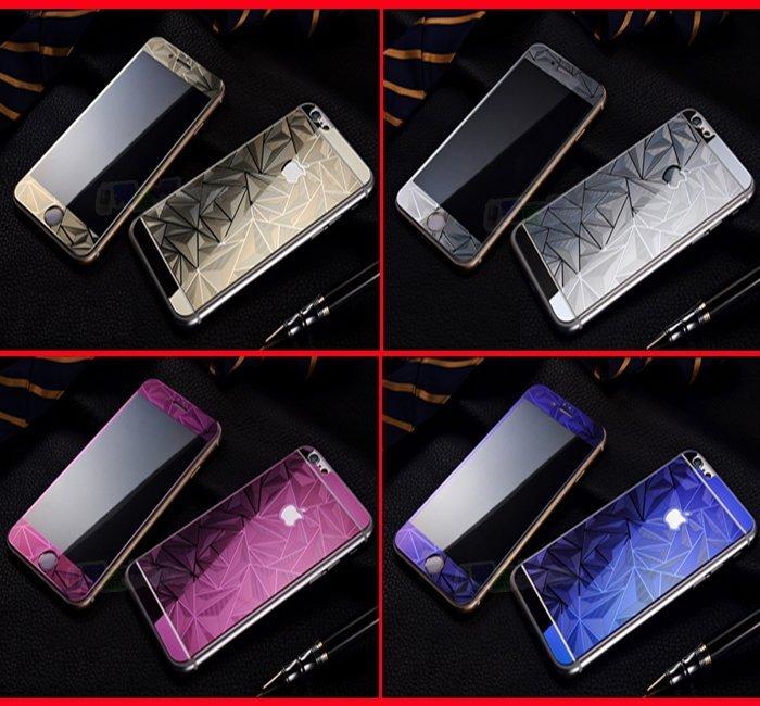 iphone6 iphone7 plus/i6+/i7+/iphone6s i6s 4.7吋/5.5吋/5S SE 全覆蓋3D立體鋼化貼 菱格玻璃螢幕保護貼彩膜浮雕滿版電鍍膜 非imos SGP
