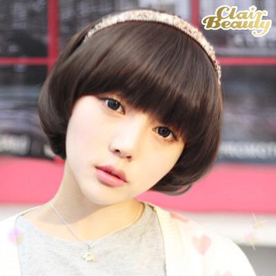 可愛經典呆瓜頭香菇頭BOBO造型短髮【MB015】高仿真超自然整頂假髮☆雙兒網☆