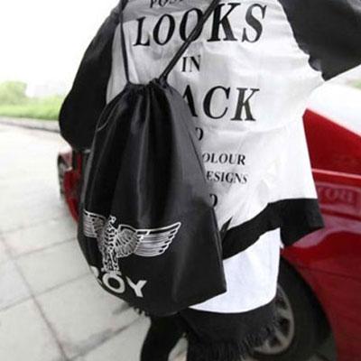 ☆雙兒網☆ BIGBANG GD 權志龍抽繩束口袋BOY London潮包原宿棉帆布袋雙肩後背包☆【AO2416】