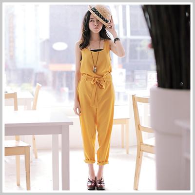 ☆雙兒網☆ Sunshine.現貨+預購【P563】Zara款歐美時尚兩件式無袖長褲-3色