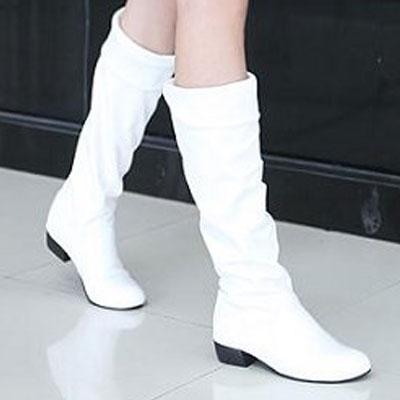 ☆雙兒網☆ 顯瘦必備反摺粗跟長筒靴【S226】