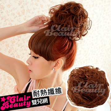 ☆雙兒網☆日本設計師獨家設計100%耐熱【MT001】耐熱纖維-大團丸子窩窩捲頭大髮包