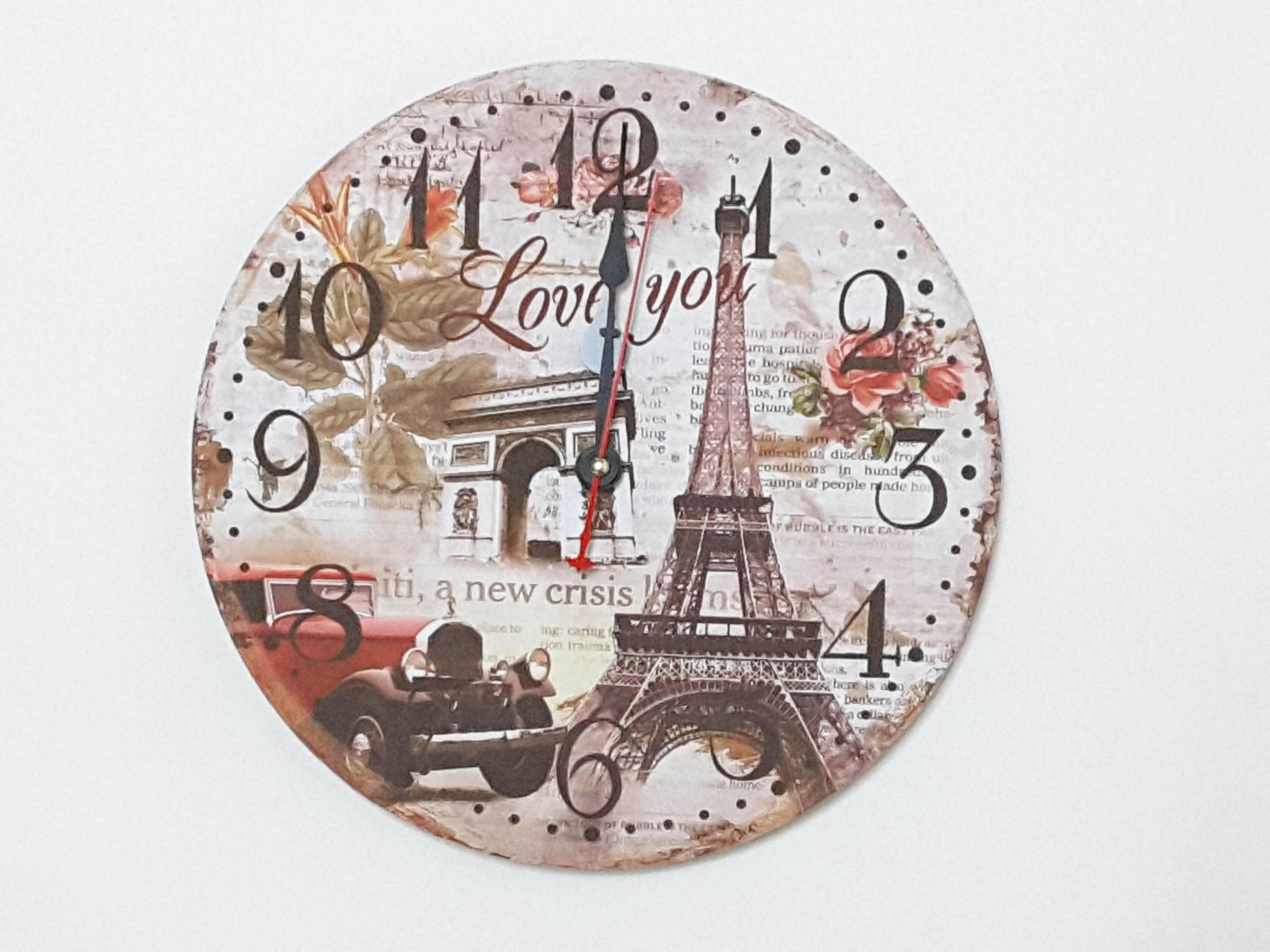 La maison生活小舖《木製法國風情掛鐘》時鐘/掛鐘 浪漫復古氣氛 妝點環境 有多種造型可供挑選