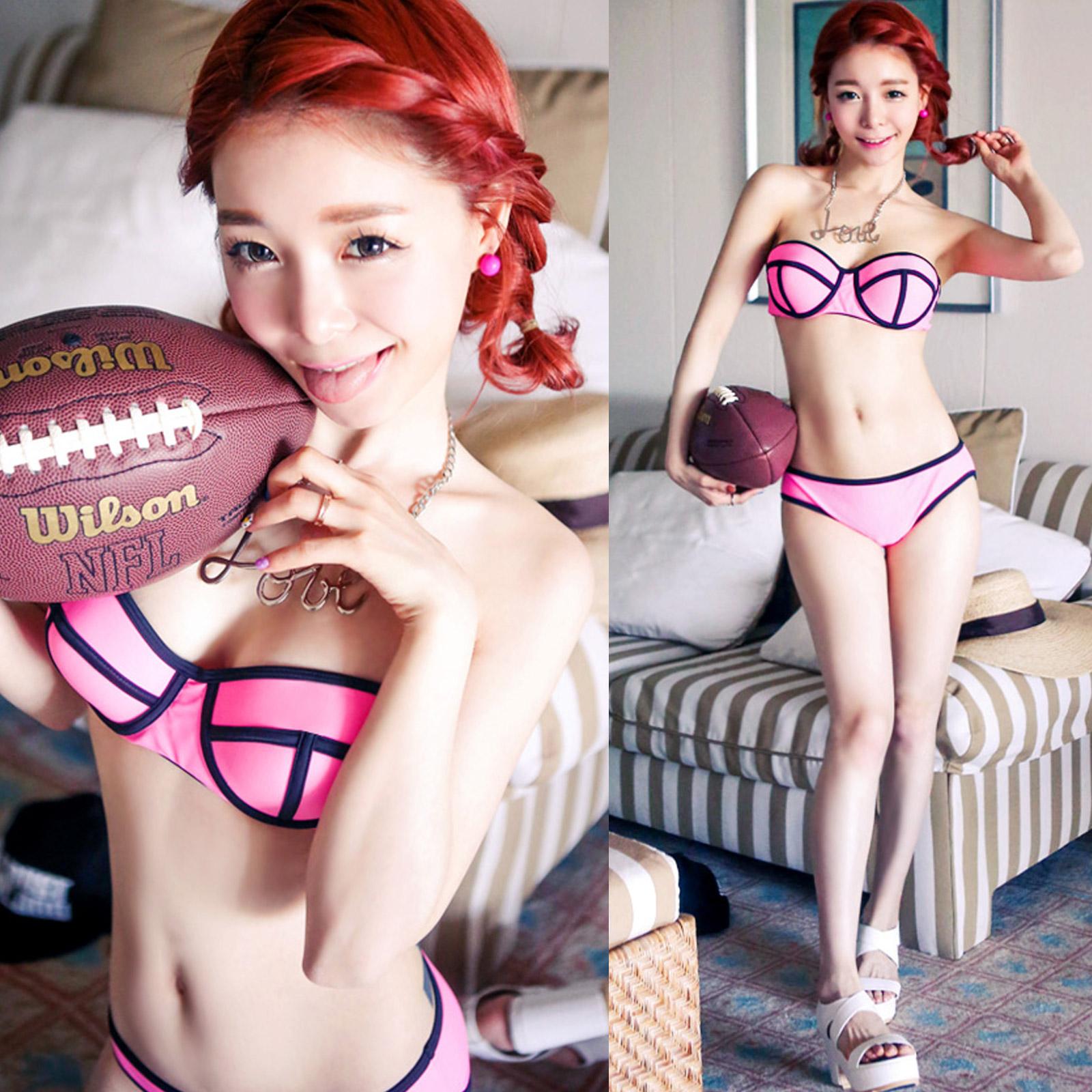 泳裝 歐美bikini時尚拚色比基尼泳衣【O2933】☆雙兒網☆