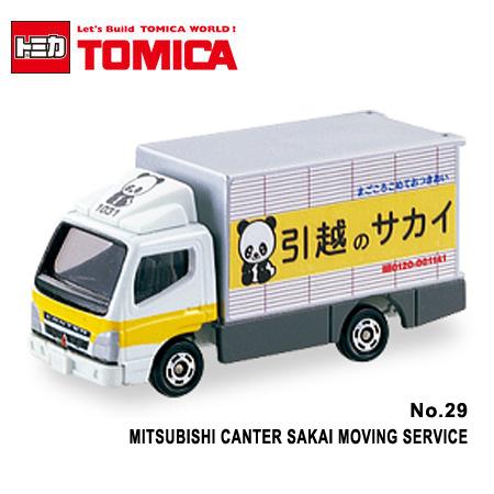 日貨 TOMICA No.29 MITSUBISHI CANTER SAKAI MOVING SERVICE 三菱載貨卡車 真車系列 汽車模型 多美小汽車【N201333】