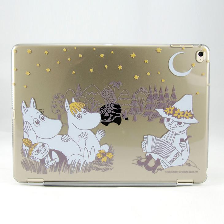 Moomin 嚕嚕米正版授權 -【 仲夏之夜(灰) 】:《 iPad Mini/Air/Pro 》水晶殼+Smart Cover(磁桿)