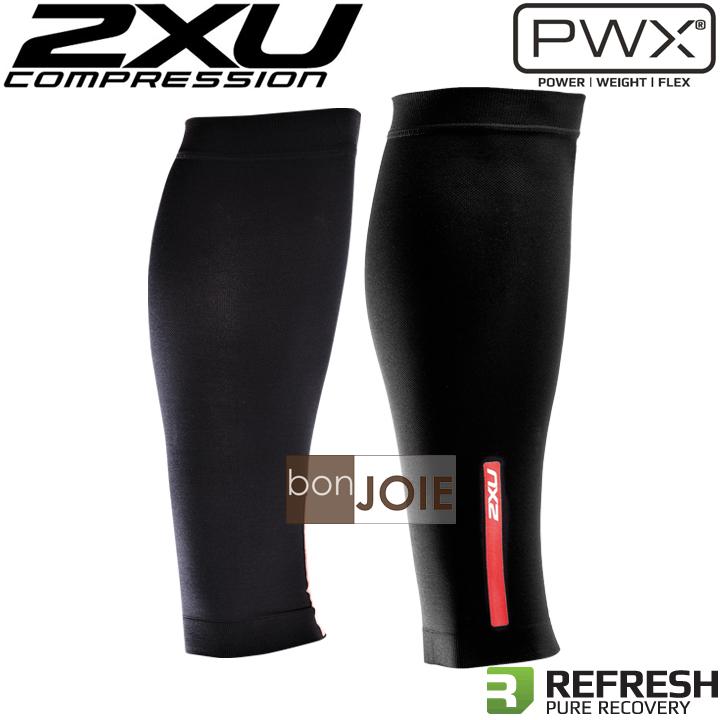 ::bonJOIE:: 英國進口 2XU PWX Compression Calf Sleeves 新款黑色 緊身壓縮小腿套 (全新盒裝) 男女適用 鐵人三項 三鐵 壓力腿套