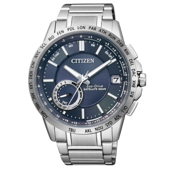 CITIZEN星辰CC3001-51L衛星GPS對時光動能腕錶/藍面44mm