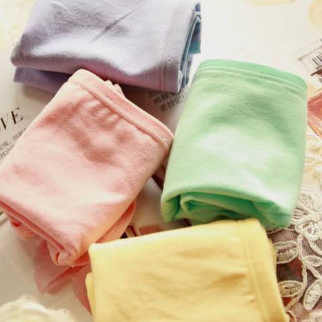 Super Sale 整點特賣 99免運【AJM】素色天然棉中腰平口褲 2件組(隨機色出貨)