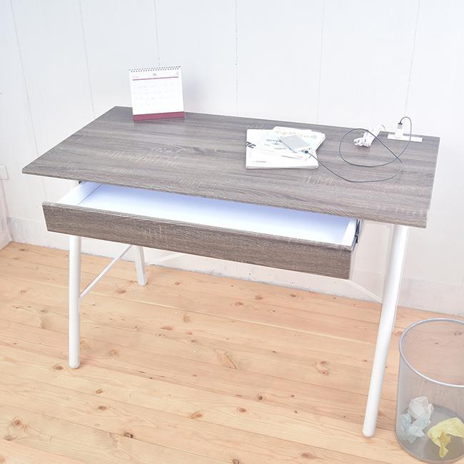 【凱堡】北歐風工作桌 立體浮雕PC書桌 桌子120公分 (充電插座) B16047