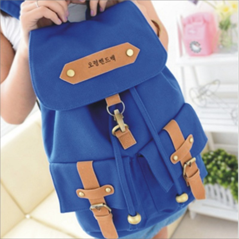 【韓版旅行包】 韓版流行後背包 學院風旅行包 書包  時尚玩包